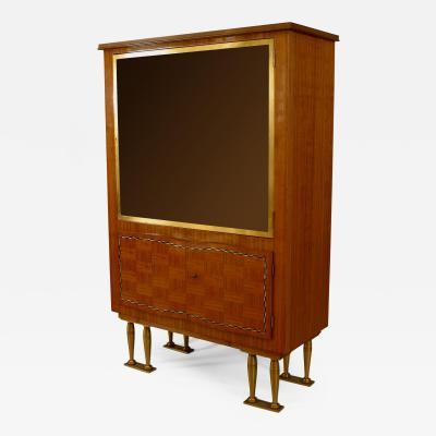 Jules Leleu French Post War Design 1950s Rosewood Display Cabinet