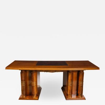 Jules Leleu Important Mahogany Art Deco Desk By Jules Leleu