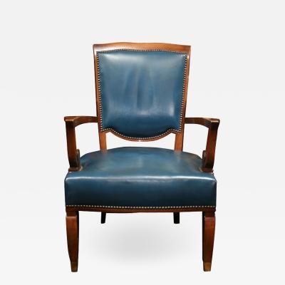 Jules Leleu JULES LELEU Set of Four Art Deco Armchairs