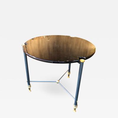 Jules Leleu Jules Leleu 1950s rare metal and lacquer coffee table