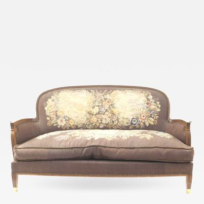 Jules Leleu Jules Leleu Art Deco Loveseat with Tapestry Upholstery