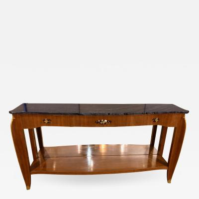 Jules Leleu Jules Leleu Bronze Mounted and Inlaid Console Table
