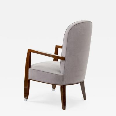 Jules Leleu Jules Leleu chic lounge arm chair with metal sabot