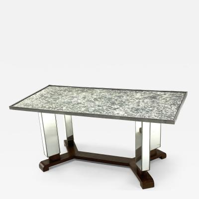 Jules Leleu Jules Leleu documented mirrored coffee table