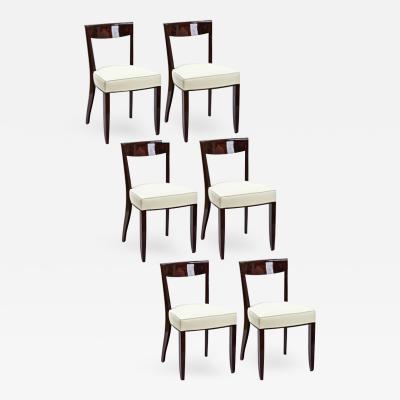 Jules Leleu Jules Leleu exceptional set of 6 dinning chairs