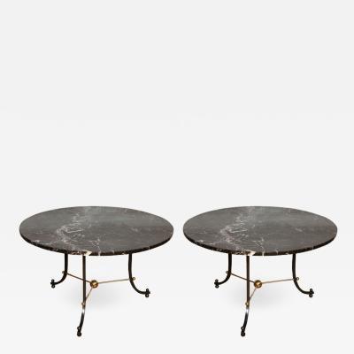 Jules Leleu Pair of 1960s tables