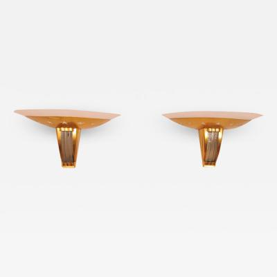 Jules Leleu Pair of Art Deco Wall Sconces by JULES LELEU 2 pairs available