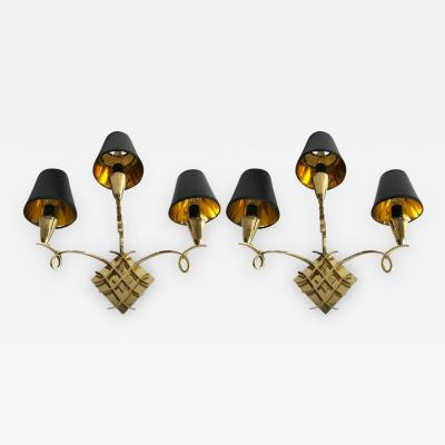 Jules Leleu Pair of Jules Leleu Sconces