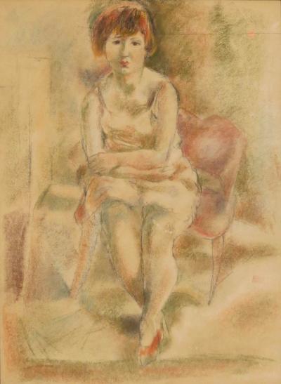 Jules Pascin Seated Girl