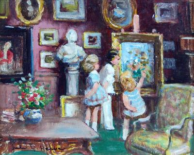 Jules Rene Herve Children in the Drawing Room