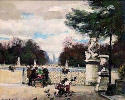 Jules Rene Herve Jules Herve Paris Park c 1960s