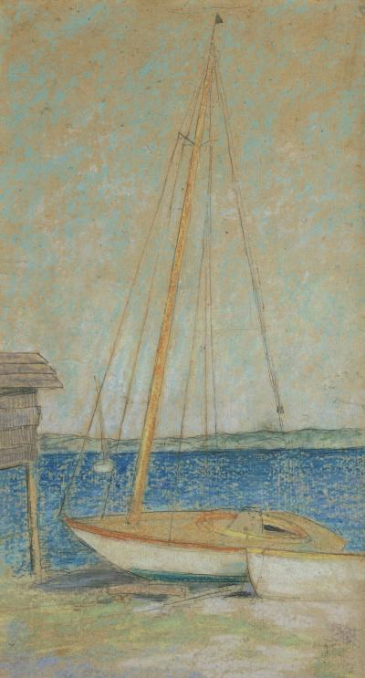 Julian Alden Weir Study for Sailboats