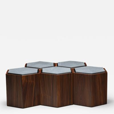 Juliana Lima Vasconcellos Set of Contemporary Modular Side or center Table or stool