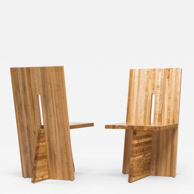 Juliana Lima Vasconcellos Small Planos Chair in Solid African Mahogany Wood by Juliana Lima Vasconcellos