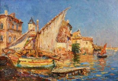 Julien Gustave Gagliardini French Impressionist Painting by Julien G Gagliardini listed Artist
