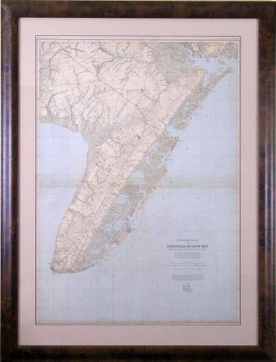 Julius Bien Peninsula of Cape May 1883 1889