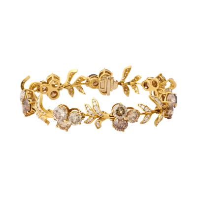 Julius Cohen Fancy Colored Diamond Bracelet by Julius Cohen