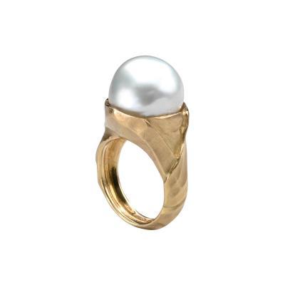 Julius Cohen Julius Cohen Gold Ring with Pearl