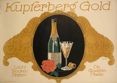 Julius Klinger German Sparkling Wine Poster by Julius Klinger 1912