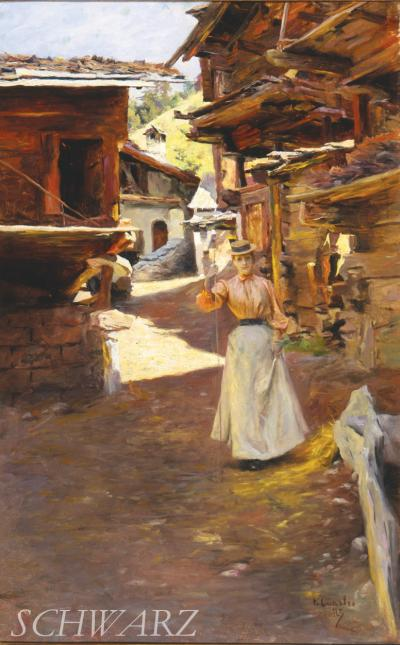 Julius LeBlanc Stewart Summer in the Alps