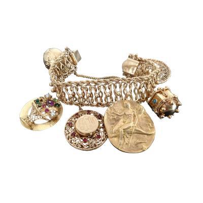 Jumbo Gold Charm Bracelet