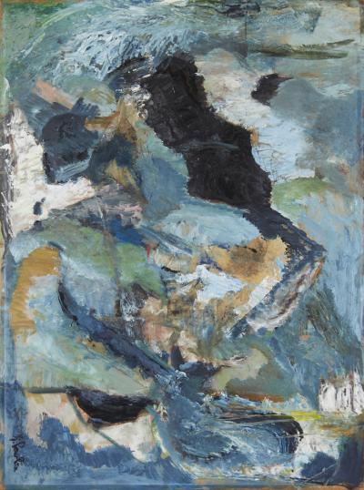 June Pawlan Mid Century Oil Painting Signed June Pawlan