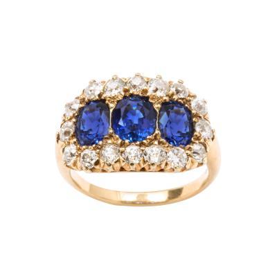 Jung Klitz Sapphire Diamond Ring