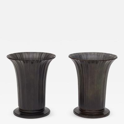 Just Andersen A Pair of Vases in Diskometal