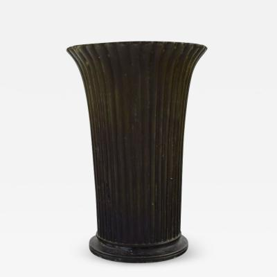 Just Andersen Art deco vase in disko metal
