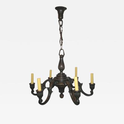 Just Andersen Just Andersen Danish Bronze Chandelier