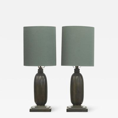 Just Andersen PAIR JUST ANDERSEN TABLE LAMPS