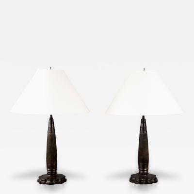 Just Andersen Pair of Column Lamps by Just Andersen 1884 1943 Denmark ca 1930