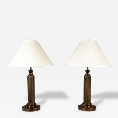Just Andersen Pair of Table Lamps by Just Andersen 1884 1943 Denmark ca 1930