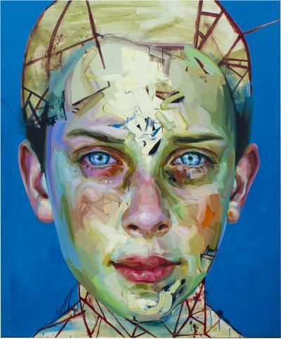 Justin Bower Blue Boy Painting by Justin Bower