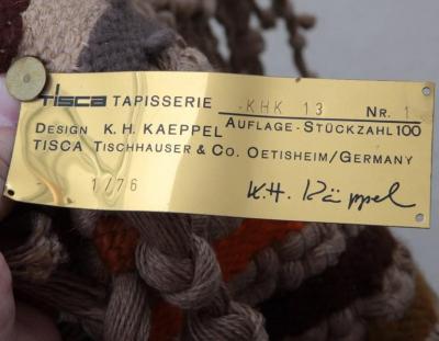 K H Kaeppel Huge Macrame Tapestry Design by K H Kaeppel for Tisca