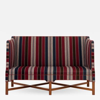 Kaare Klint 2 seater sofa in Greek fabric