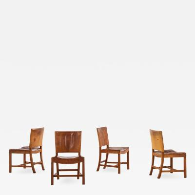 Kaare Klint Dining Chairs Model 3758 The Red Chair Produced by Rud Rasmussen