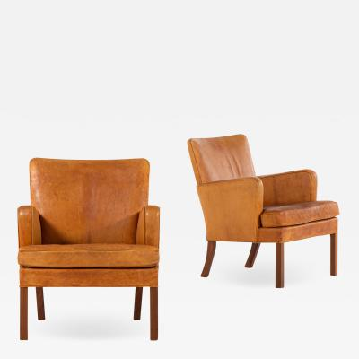 Kaare Klint Easy Chairs Model 5313 Produced by Rud Rasmussen Cabinetmakers