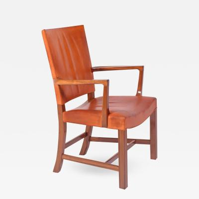 Kaare Klint High Back Barcelona Armchair by Kaare Klint for Rud Rasmussen