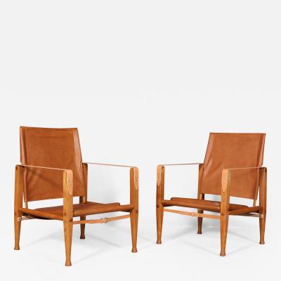 Kaare Klint Kaare Klint A couple of safari chairs newly chapunged 2