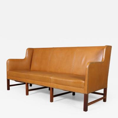 Kaare Klint Kaare Klint Freestanding sofa with cognac colored leather model 5011