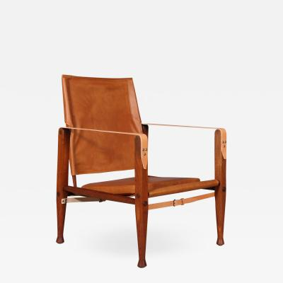 Kaare Klint Kaare Klint for Rud R Safari chair with brandy coloured aniline leather