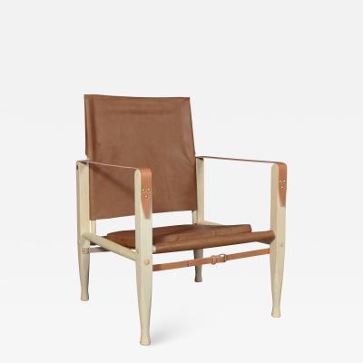 Kaare Klint NY Kaare Klint for Rud R Safari chair with brandy coloured aniline leather