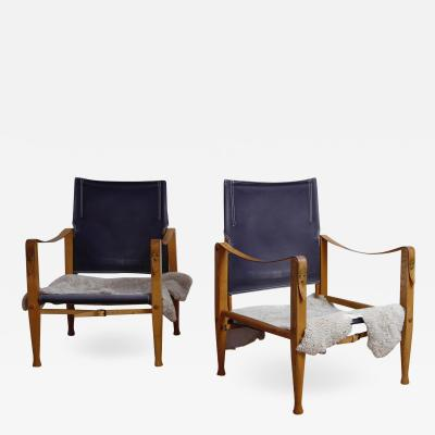 Kaare Klint Pair of Kaare Klint Safari Chairs