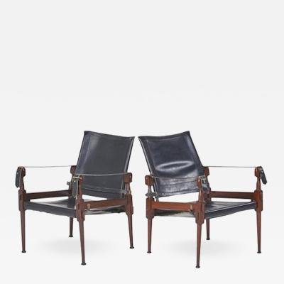 Kaare Klint Pair of Safari Chairs Attributed to Kaare Klint