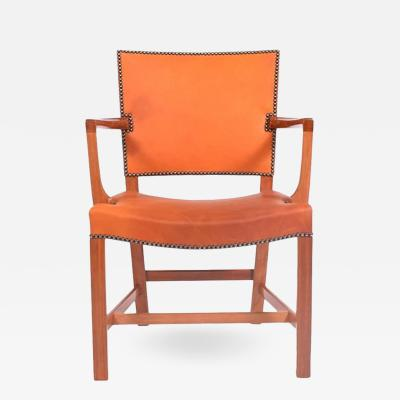 Kaare Klint Red Barcelona Armchair by Kaare Klint for Rud Rasmussen