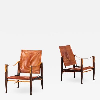 Kaare Klint Safari Easy Chairs Produced by Rud Rasmussen