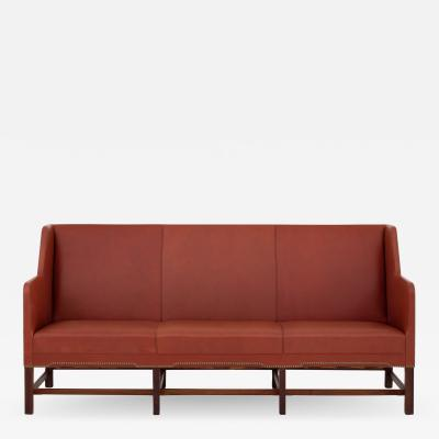 Kaare Klint Sofa in red leather