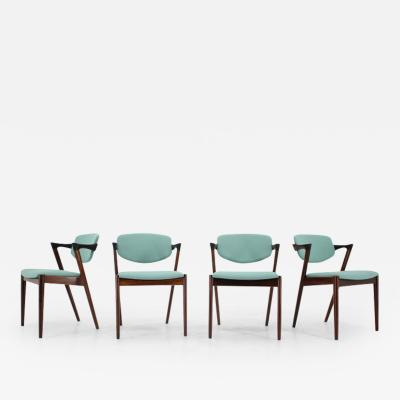 Kai Kristiansen 1960s Kai Kristiansen Model 42 Rosewood Dining Chairs Set of 4