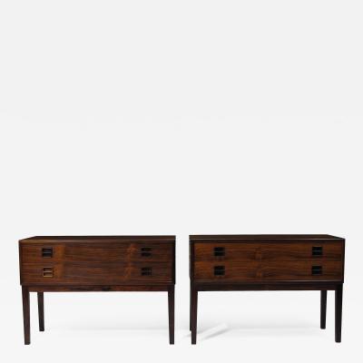Kai Kristiansen Danish Rosewood Small Cabinets Nightstands